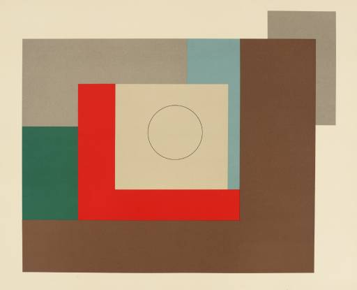Abtract  Composition (Penwith) 1935 Signed  by Ben Nicholson