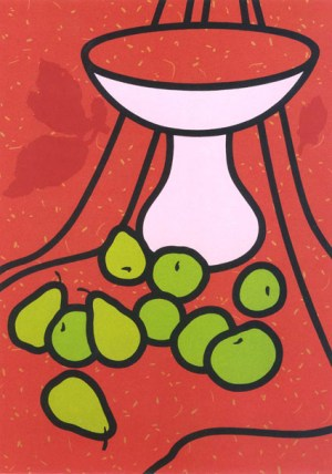 Fruit and Bowl Signed  by Patrick Caulfield