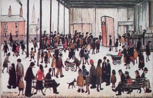 Punch & Judy Signed  by L.S. Lowry