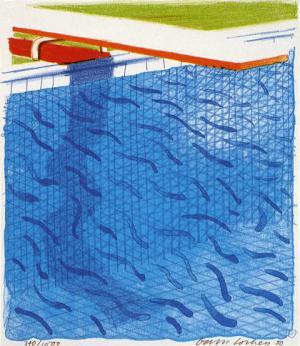Paper Pools Signed  by David Hockney