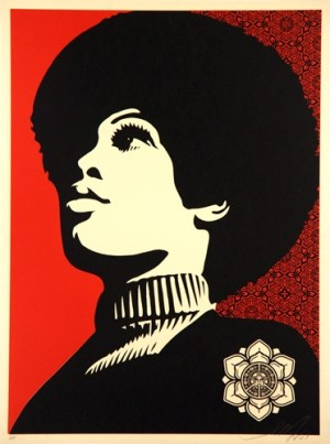 Panther power Signed  by Shepard Fairey