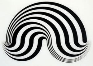 Untitled Fragment 5 Signed  by Bridget Riley