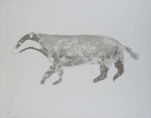 Badger Signed  by Elisabeth Frink