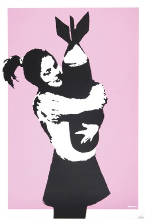 Bomb Love Signed  by  Banksy