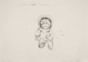 Space Monkey - We have Lift Off Signed  by Tracey Emin