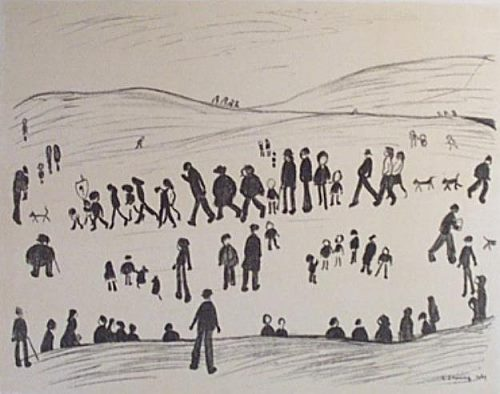 Sunday Afternoon Signed  by L.S. Lowry