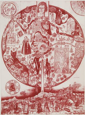 Map of Nowhere (red) Signed  by Grayson Perry