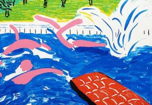 Afternoon Swimming Signed  by David Hockney