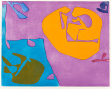 Night Violet Signed  by Patrick Heron