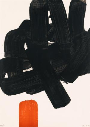 Lithographie No. 24b Signed  by Pierre Soulages