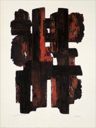 Eau-Forte IX Signed  by Pierre Soulages