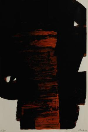 Lithographie no 26 Signed  by Pierre Soulages