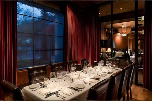 Dominick's Steakhouse fine dining table setting