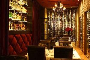 Dominick's Steakhouse wine room