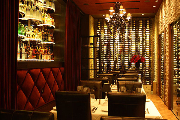 Dominick's Steakhouse wine room