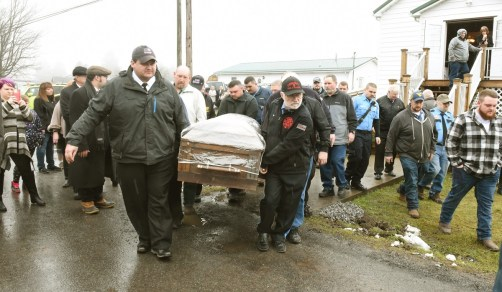 Okey Dalton after funeral at Mt View Free Methodist Church after funeral