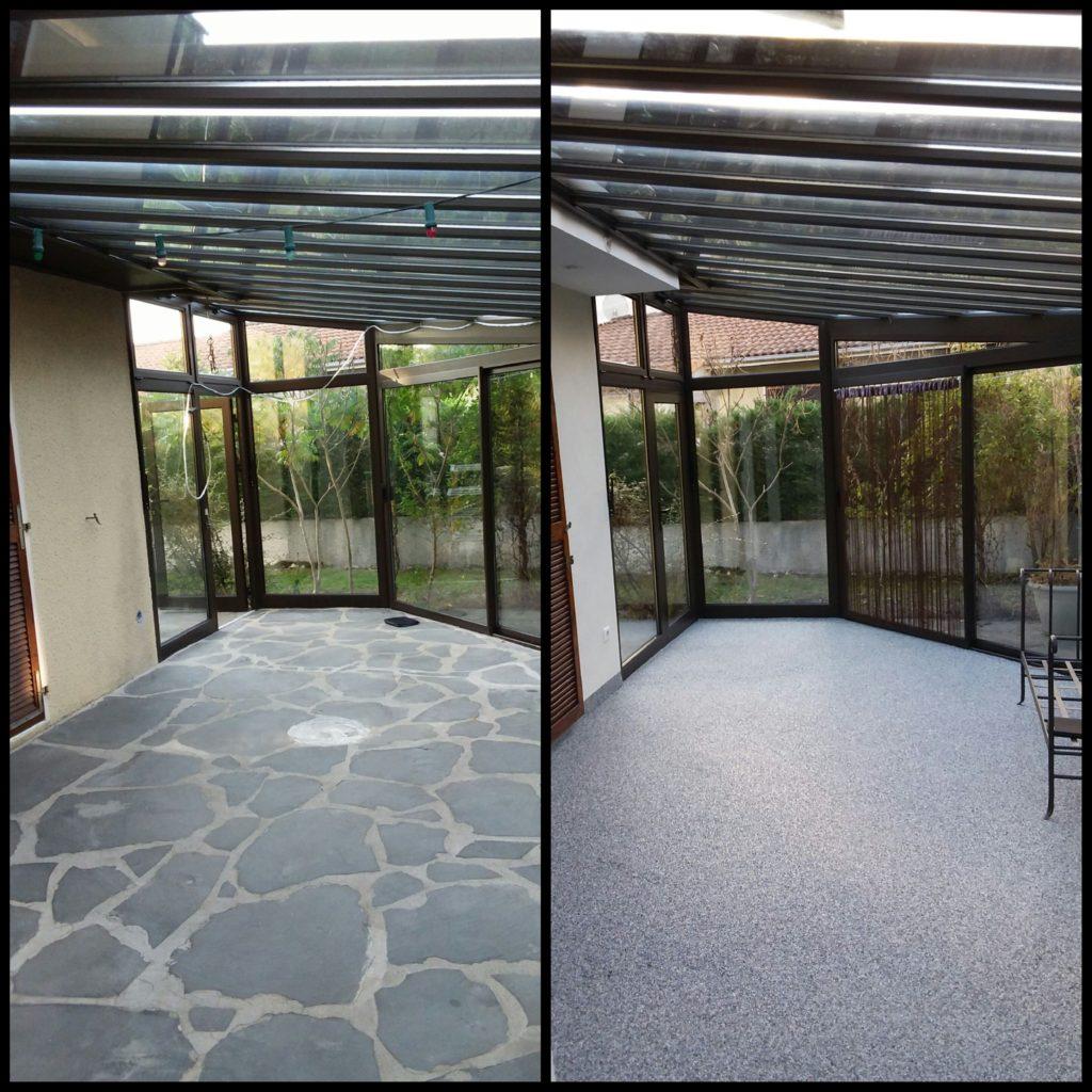 Rénovation de terrasse de véranda