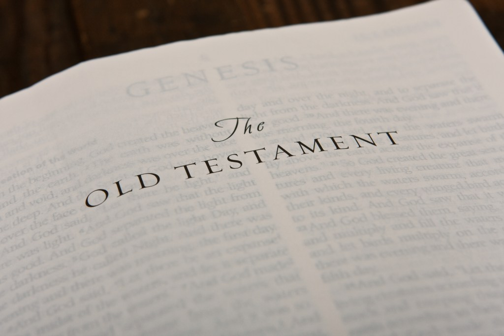Bible open to the Old Testament