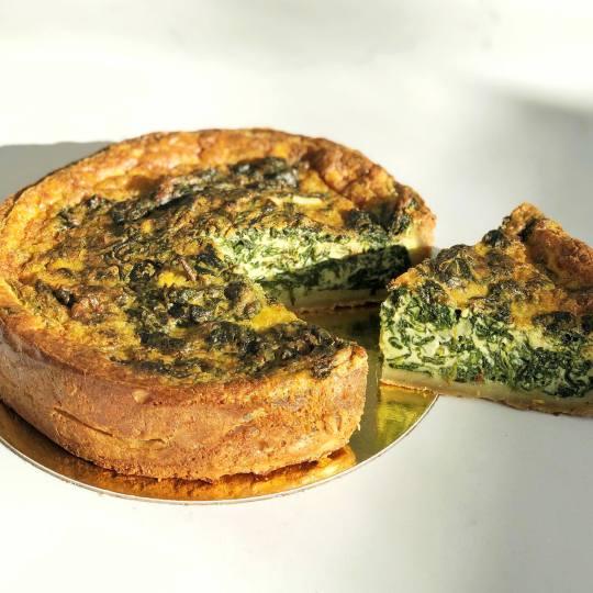 Spinach Gruyere Quiche
