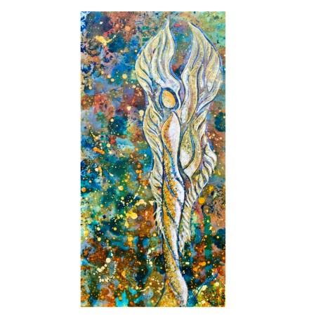 Guardian Angel intuitive painting