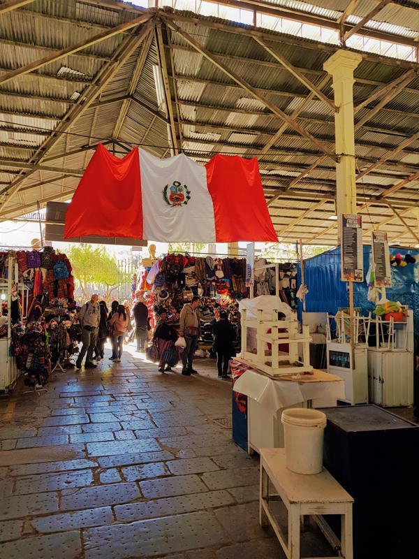 Peruvian Flag in Cusco