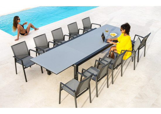 Table de jardin rectangle LIVORNO   JATI   KEBON   achat en ligne