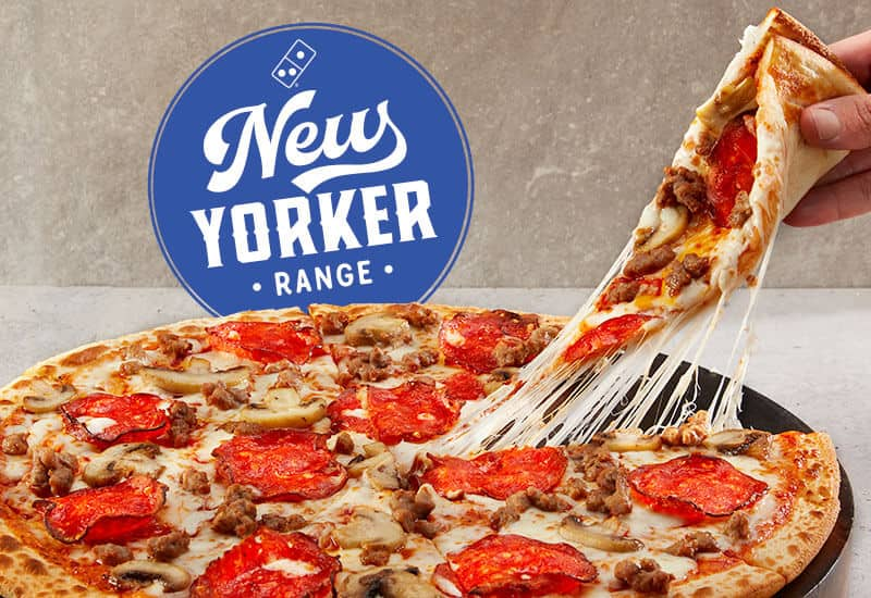 Domino's The Big Pepperoni, Sausage and Mushroom Pizza