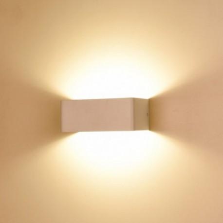 Applique Murale Led Interieure Blanc 6w 3000 K Non Dimmable Avec Ampoule