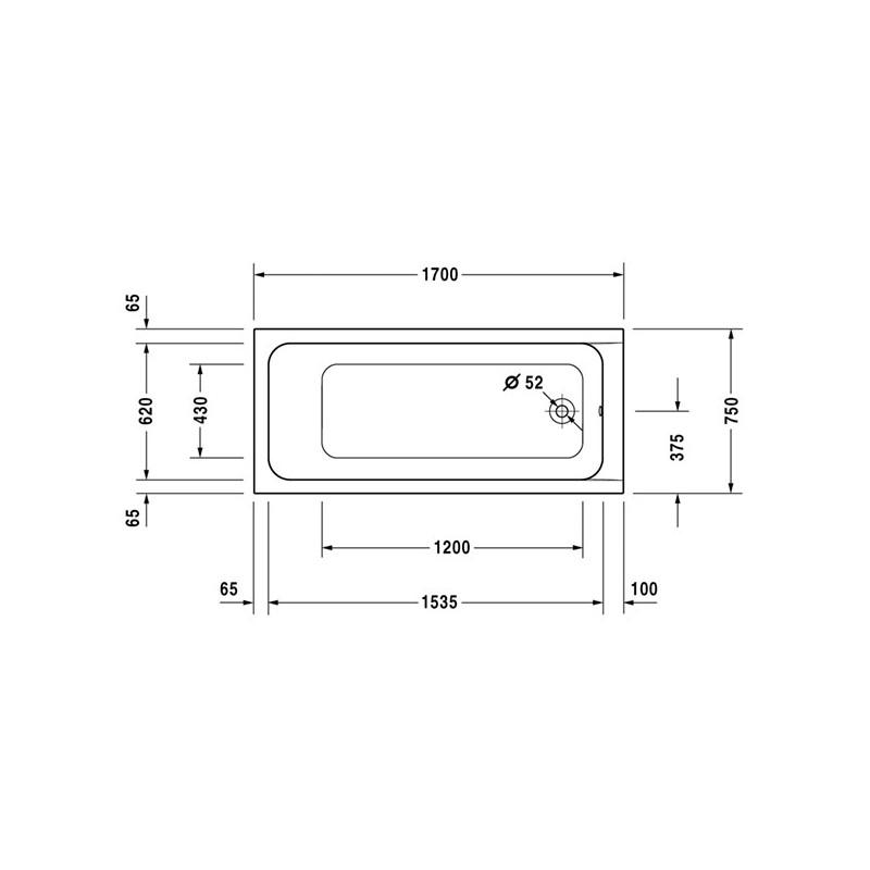 Baignoire Acrylique D Code Encastrer 1700 X 750mm
