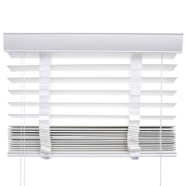 store venitien imitation bois lames 50 mm blanc pret a poser 60 x 130 cm