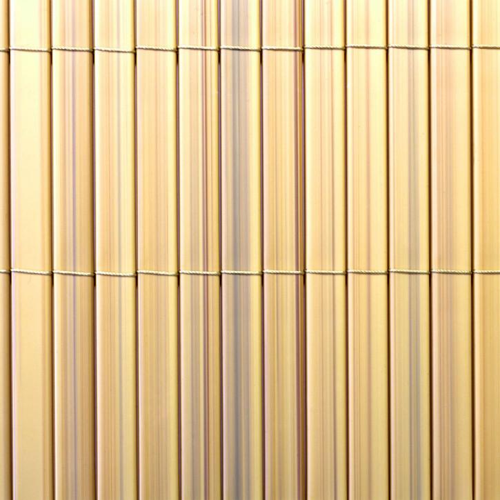 canisse en pvc premium largeur des lamelles 17 mm bambou 80 x 300 cm
