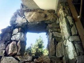 Realizzazione Rustico con pietre locali, simulazione di una finestra - Country house realization, using local natural stone; window simulation