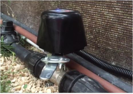 Motor Z-Wave para llave general de Agua/Gas