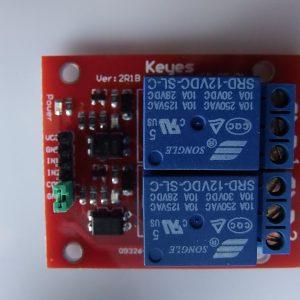 2 Canali 12V Relè Modulo For PIC ARM AVR DSP