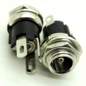 2 Pezzi Metal DC-021, DC jack, DC power socket Interfaccia, 5.5-2.1MM DC-005