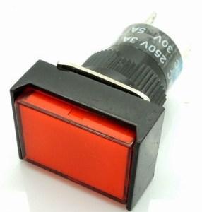 Red Push bottone Pulsante LAS1 -AJ - 11 LA128 LA16 - J - 11d RED 24VOLT DC