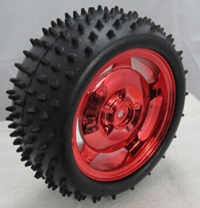 85MM*38MM Anti Slip Ruota Red
