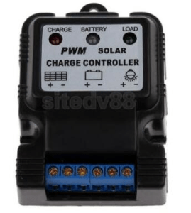 5A solar charge controller 6V 12V Auto adaptive control with power indicator light control