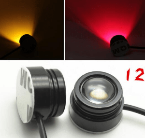 White LED Lamp headlight Illuminator 12V 1.5W Night Navigation