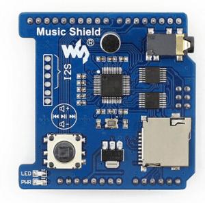Music Shield Arduino Scheda Espansione for Audio Play/Record VS1053B Onboard Music Moduel Compatibile Arduino UNO, Leonardo, NUC
