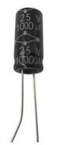 10 Pezzi MCGPR50V105M5X11 Condensatore Elettrolitico, Serie GPR, 1 µF, ± 20%, 50 V, 5 mm, Conduttori Radiali 1uf 50V
