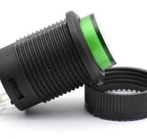 Interruttore a pulsante autobloccante verde 16MM 3A 250V R16-503AD