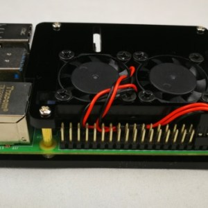 Dual Fan+ 2 Black Layer Acrylic Case for Raspberry PI 4
