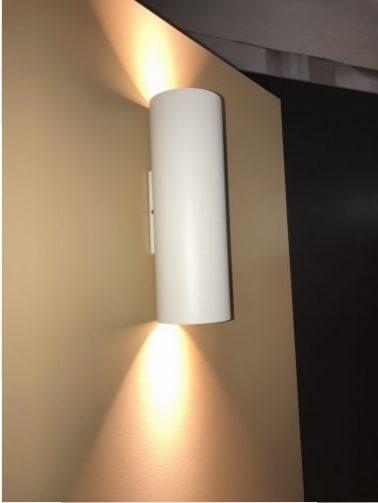 Wever en Ducré wandlicht up/down cilinder rond