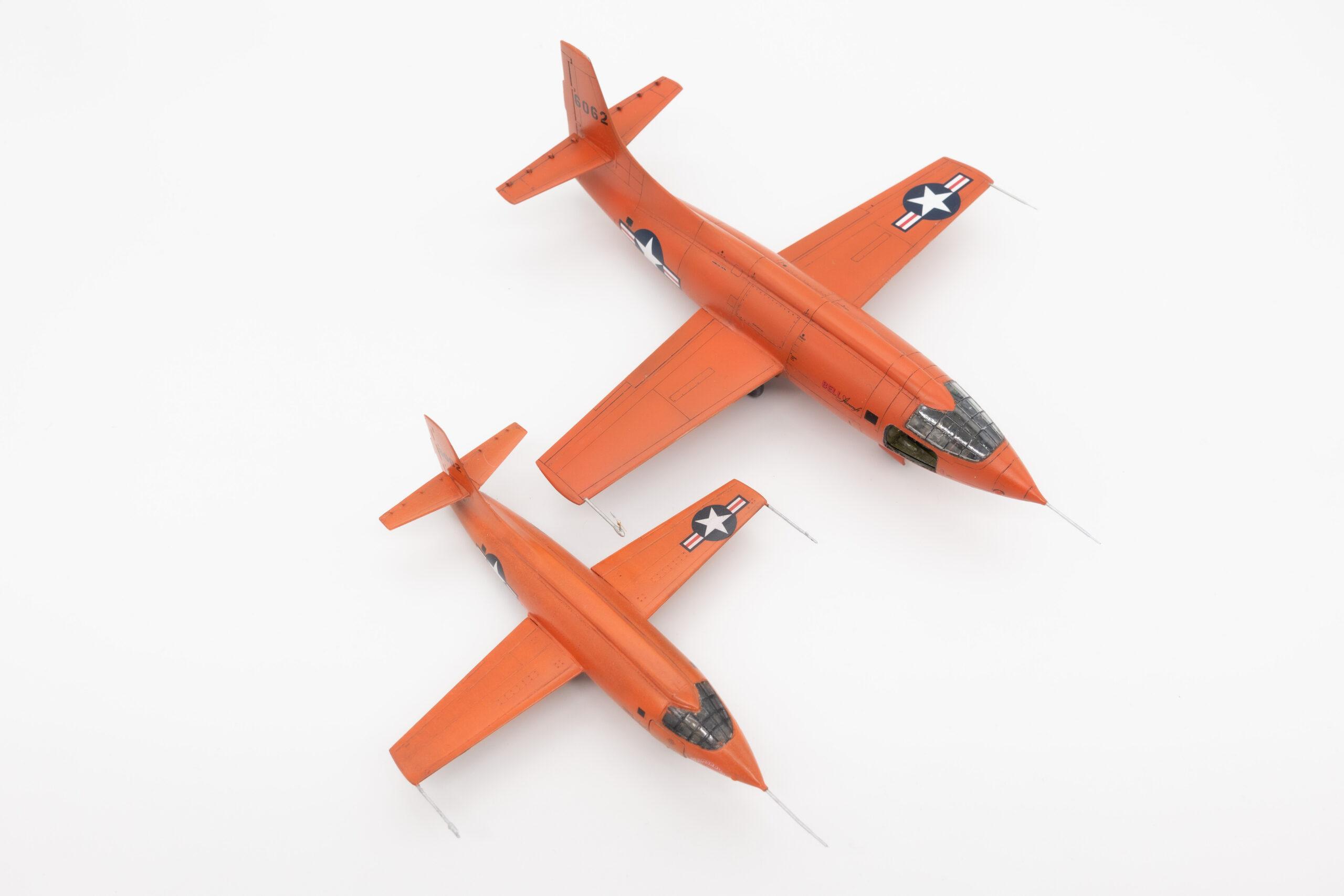 Tamiya 1:72 und Eduard 1:48 Bell X-1 Mach Buster