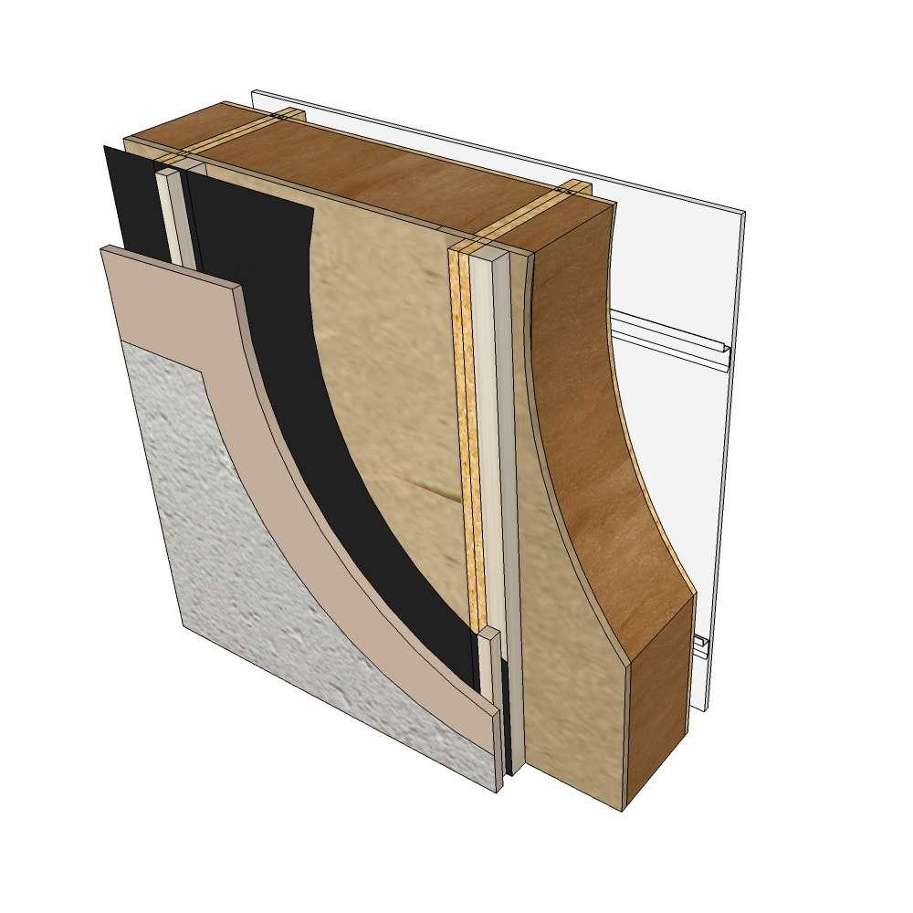 Blokiwood perete lemn prefabricat