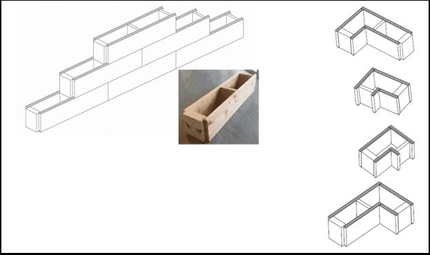 Casa caramizi lemn