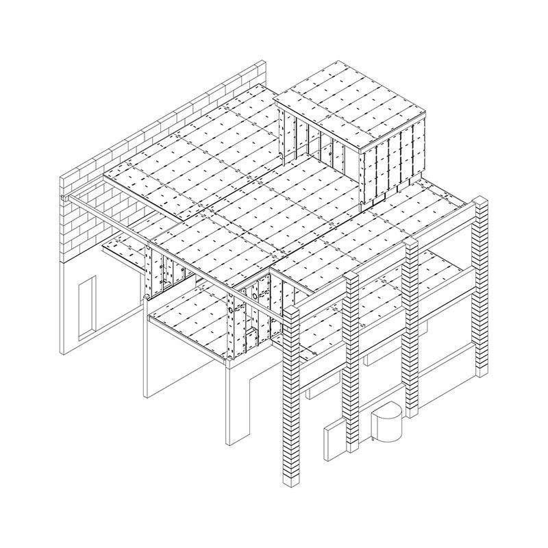 Structura casei din placaj