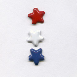 """Red, White & Blue -- 3/16"""" Mini Star -- Paper Fasteners -- 100 Pack"""