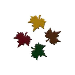"""Assorted -- 5/8"""" Maple Leaf -- Paper Fasteners -- 50 Pack"""